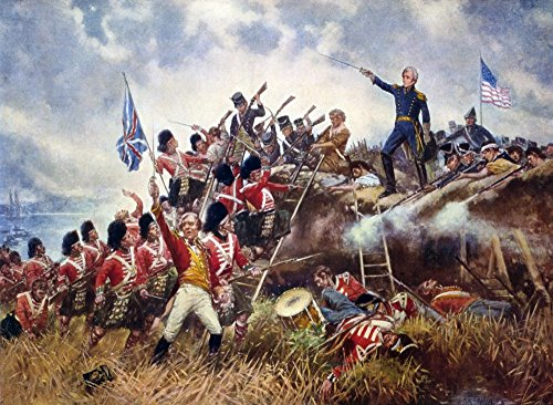 Battle Of New Orleans 1815 Nandrew Jackson At The Battle Of New Orleans 8 January 1815 Painting By E Percy Moran C1910 Poster Print by (18 x 24)