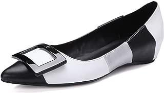 Nine Seven Women's Leather Pointtoe Low Heel Flats