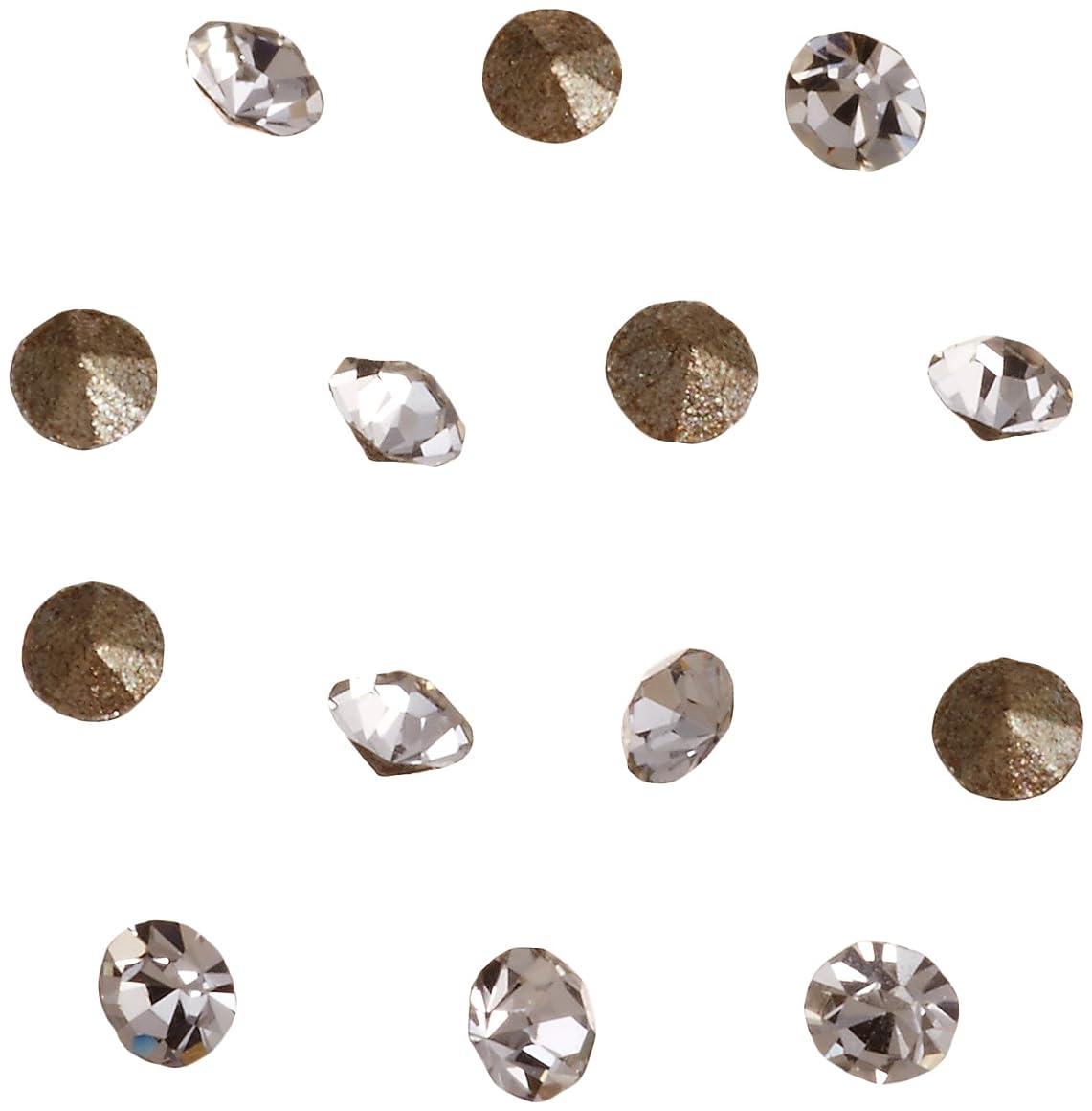 復活させるバウンド廃棄ネイルアートパーツ Vカットストーン クリスタル PP 4   約1.1~1.2mm 埋込式ラインストーン