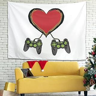Zhenxinganghu Videospiel-Liebe - Juego de ropa de cama (150 x 130 cm), diseño de videojuegos, color blanco