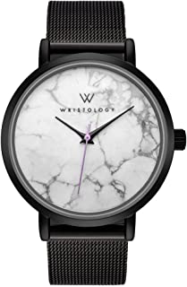 WRISTOLOGY Olivia - 4 Options - Womens Watch Black Marble Boyfriend Ladies Stainless Steel Metal Mesh Strap Band