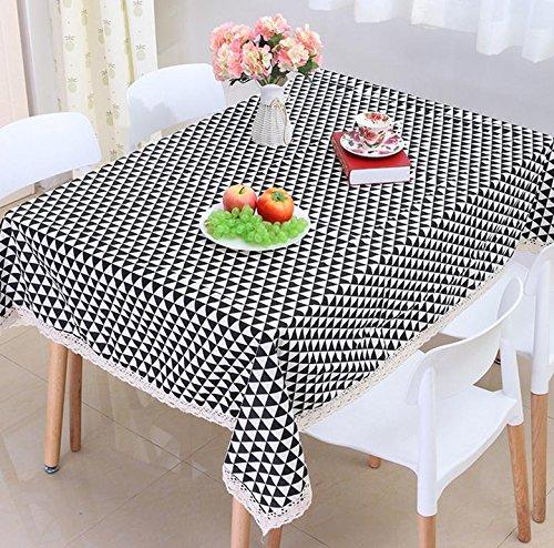 Zwart en wit driehoek rooster tafelkleed eenvoudige moderne dambord tafelkleed tafelkleed