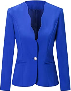 LATUD Women's One Button Blazer Jacket Suit