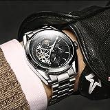 Hellery TEVISE Men Relojes Mecánicos Automáticos para Hombres Reloj De Pulsera Luminoso De Lujo - Plata