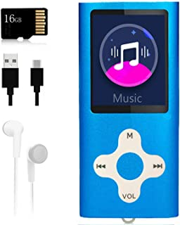 Mp3 Player,Music Player with a 16 GB Memory Card Portable Digital Music Player/Video/Voice Record/FM Radio/E-Book Reader/P...