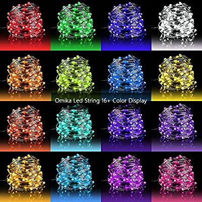 Omika LED Fairy Lights String Lights Waterproof Multi Color Changing,Firefly Lights with Remote Control for Indoor,Outdoor,Bedroom,Patio,Wedding,Party Christmas Decorations