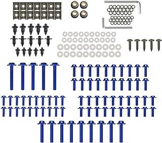 mewmewcat Conjunto completo de kit de carroceria para parafusos de carenagem de motocicleta 194pcs Fasterners