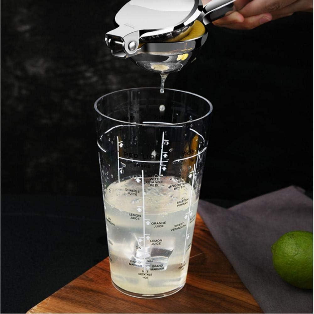 KUSAZ Exprimidor Manual exprimidor Clip Fruta Jugo de Naranja limón Utensilios de Cocina hogar-Plata Plata