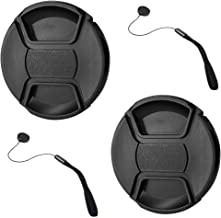GAOAG 2 Pack 82mm Center Pinch Lens Cap for Nikon Canon Sony DSLR Compatible with Canon EF 16-35mm f2.8L III USM/EF 24-70m...