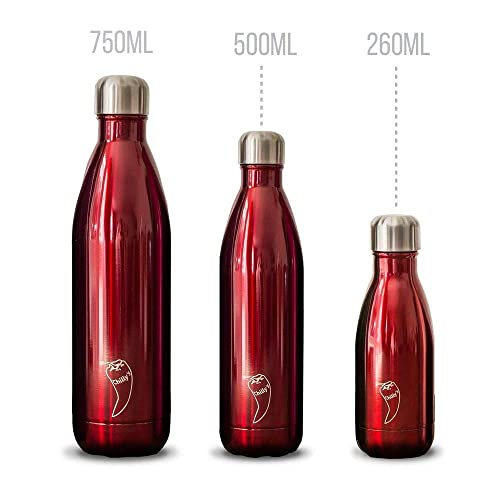 7bb90a3d18 Chilly's Bottles BPA-Free Stainless Steel Reusable Water Bottle Double  Walled Vacuum Insulated
