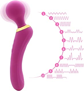 Handheld Roll Mini Wand Massager Yoga Therapeutic Handheld Massage, Mute 10X Speeds Cordless Portable Deep Tissue Massager for Back Neck Shoulder Sports Recovery (Purple-q1)