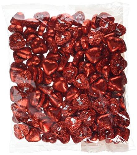 Corazones de crema de caramelo con leche de chocolate rojo - 1 kg. Regalo ideal para bodas / valentines