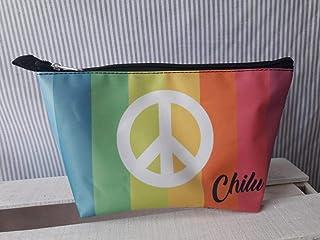 Cosmetiquera Amor y Paz Multicolor Personalizada