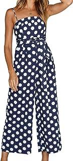 Women's Playsuit Summer Elegant Long Romper Vintage Sleeveless Off Shoulder Feast Clothing Jumpsuit Fashion Leisure Spotte...