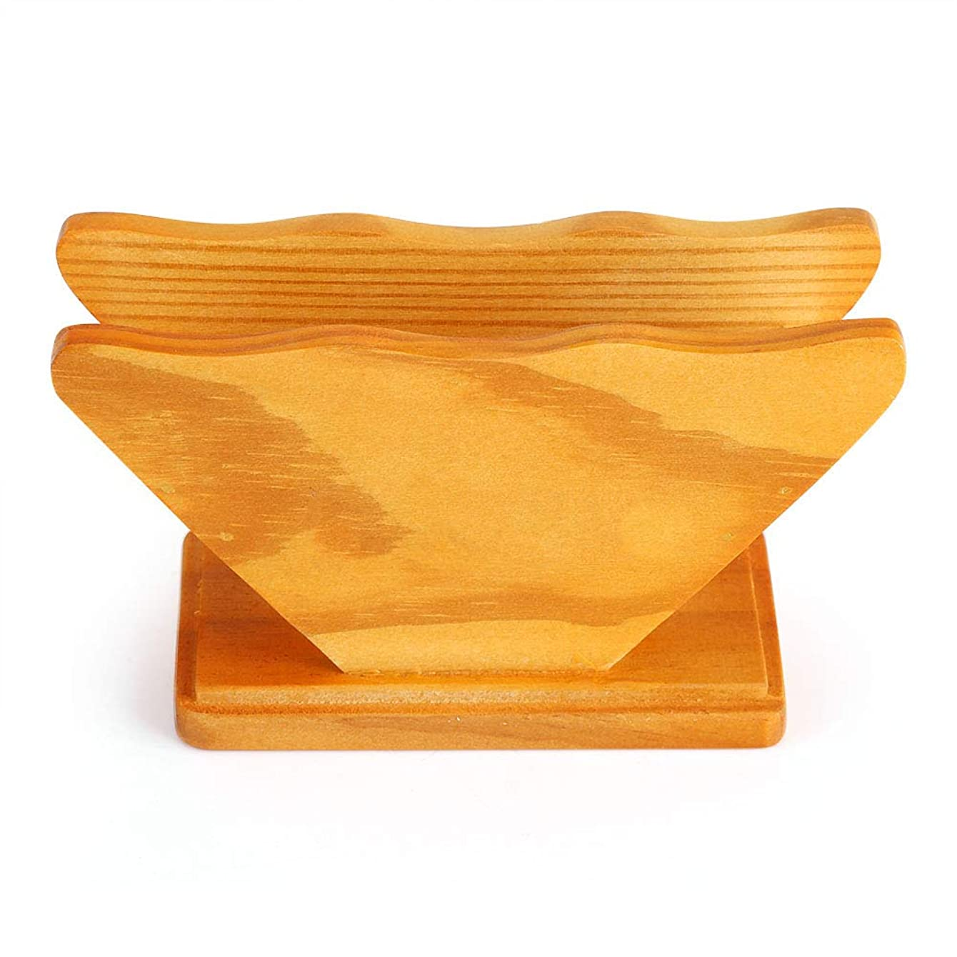 Wooden Coffee Filter Paper Renewable Natural Resource Filter Paper Foldable Wooden Stand Storage Box Holder