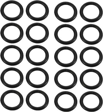sourcing map 30 St/ück Dichtungsringe Set O Ringe Sortiment NBR Gummi Dichtungen Ringe Sortiment mit Durchmesser 1.9-7.2mm Gummiringe de