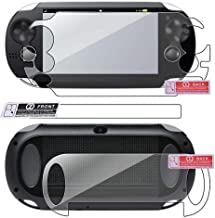 Younar Hd Clear Film Screen Protector 2 Pack (4Pcs) Front and Back Film Compatible with Sony PS Vita PSV Game Player Screen Protection Pad