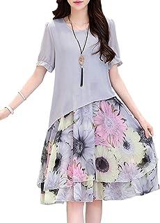 9566fed85a49f7 Amazon.co.jp: ロング丈 - ワンピース・チュニック / ワンピース・ドレス ...