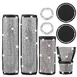 2 confezioni di spalline per cintura di sicurezza universali in pelle con diamanti Bling B...