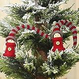 2 adornos colgantes para árbol de Navidad, gnomo, felpa, colgante de ángel, decoración de muñeca de punto, Navidad, fiesta, puerta, ventana, hogar, cocina, oficina, mesa, decoración de invierno