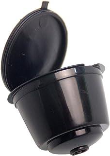 Fenteer 2 Pieces Refillable Reusable Coffee Capsules Pods Coffee Filter + 1 Piece Spoon, for Circolo/Genio/Melody - Black,...