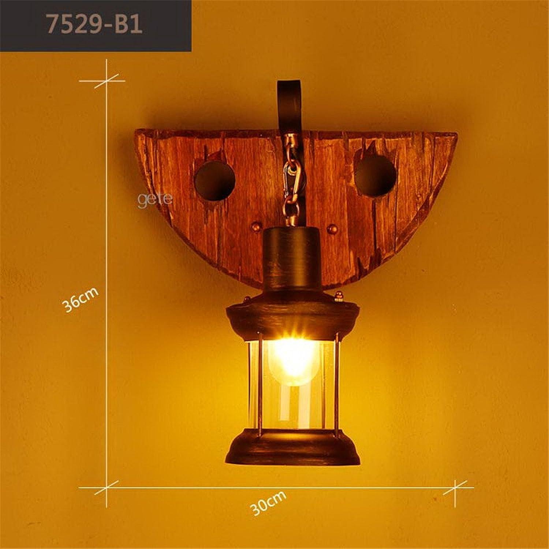 StiefelU LED Wandleuchte nach oben und unten Wandleuchten Retro Wandleuchten Massivholz art deco Bar Cafeteria Korridor durch die Wohnzimmer, Schlafzimmer Nachttischlampe