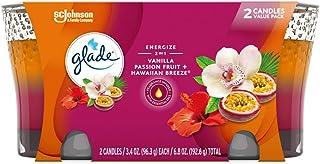 خوشبو کننده هوا شمع Glade 2in1 Jar شمع ، نسیم هاوایی و میوه وانیلی Passion Passion ، 2 شمع ، 6.8 اونس