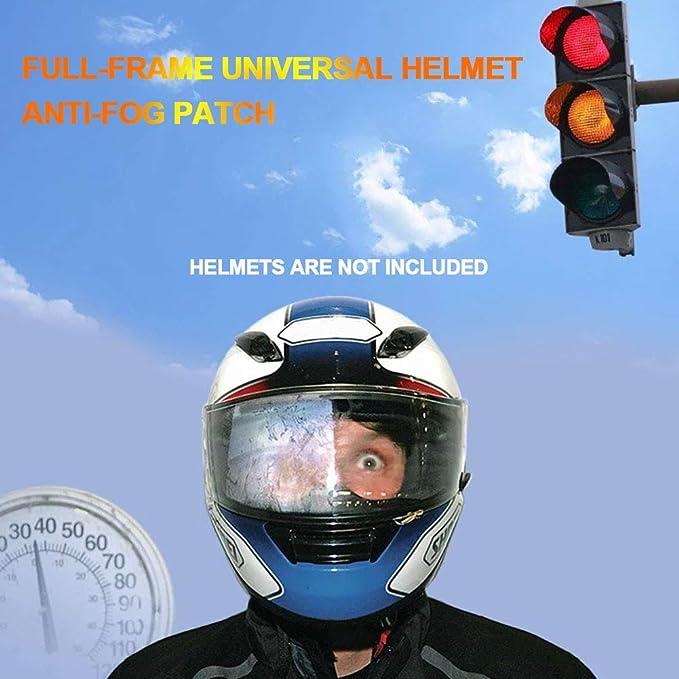 Motorrad Helm Anti Nebel Folie Universal Klares Visier Scheibe Aufkleber Anti Nebel Wasserdicht Standard Folie Einsatz Motorrad Helm Aufkleber Löschen 27x9 Cm Baumarkt