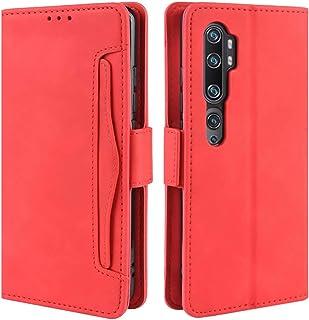 HualuBro Xiaomi Mi Note 10 fodral, magnetiskt helkroppsskydd stötsäker flip läder plånbok fodral med kortplats hållare för...
