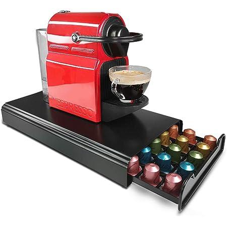RECAPS ネスプレッソコーヒーカプセルキッチンオーガナイザー鋳鉄と互換性のあるコーヒーポッドホルダー収納引き出し
