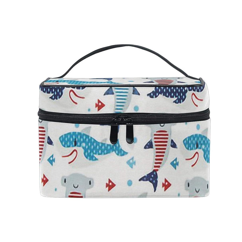 膜ヘビワーカーメイクポーチ 可愛い サメ柄 化粧ポーチ 化粧箱 バニティポーチ コスメポーチ 化粧品 収納 雑貨 小物入れ 女性 超軽量 機能的 大容量