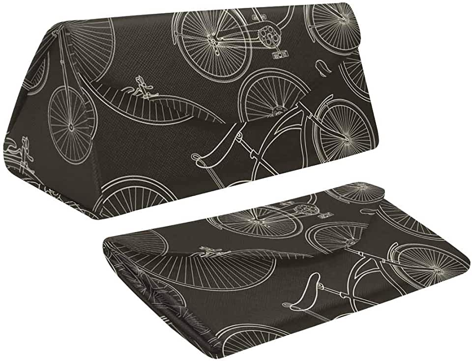 Black Bicycle Lovely Foldable Glasses Case Boxer Magnet Closure