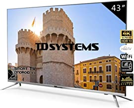 Televisores Smart TV 43 Pulgadas 4K / Android 9.0 / Hbbtv /