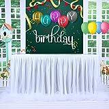 HBBMAGIC Tutu Tischrock Weiß Tüll Tischdeko Party deko Für Babyparty mädchen, Hochzeit, Geburtstag, Weihnachten, Candy bar zubehör (Weiß- Nein LED Licht, 427cm*76cm) - 2