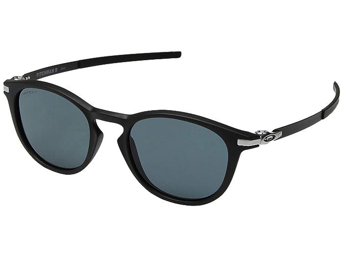 Oakley Pitchman R (Satin Black/Prizm Grey) Sport Sunglasses