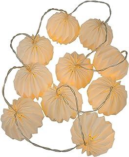 KESYOO Paper Pumpkin String Light LED Hanging Light String Lantern Light for Wedding Theme Party Porch Garden Gate Hanging...