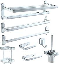 MBYW moderne minimalistische hoge dragende handdoek rek badkamer handdoekenrek Nordic wit punch-free opvouwbare handdoekst...