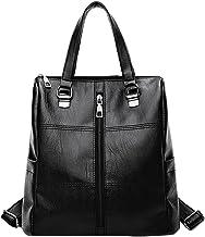 Clearance Women Bag JJLIKER Leopard Print Leather School Travel Backpack (Black B, One Size)