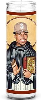 Celebrity Prayer Candle - Funny Saint Candle - 8 inch Glass Prayer Votive - 100% Handmade in USA - Novelty Celebrity Rap H...