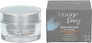 Visage Envy Remodeling Day Cream SPF 15 - Anti-Aging Daily Face Lotion Enriched with Amino-Peptide Complex, Niacinamide, and Omega 3,6,9 - Sculpts, Tones and Tightens Sagging Skin 1.7 Ounce