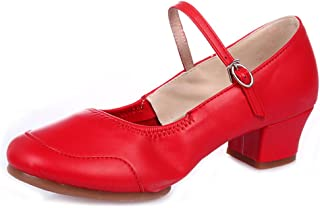 Ladies Fashion Shiny Patent Tap Dancing Shoes Mary Jane Character Stage Standard Latin Ballroom Cuban Practice Beginner Gtagain Low Heel Leather Dance Shoes Women