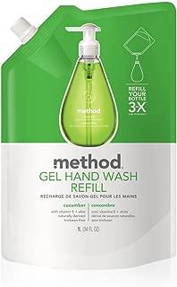 Method Gel Hand Soap Refill, Cucumber, 34 Ounce