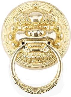 Aro de la puerta del aparador de armario retro Golpeador de puerta antiguo cabeza de animal mango de cobre resistente ...