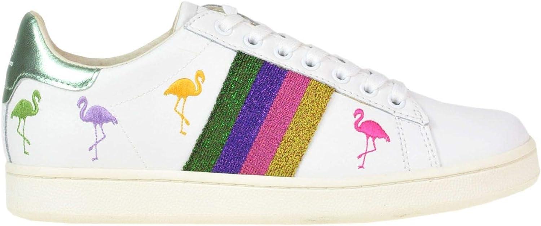MOA Women's MCGLCAK000005046E White Leather Sneakers