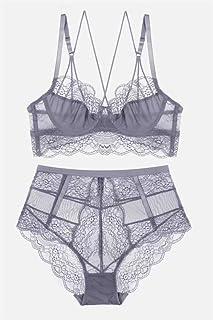 طقم ملابس داخلية مجموعات الملابس الداخلية مجموعات الملابس الداخلية للنساء ملابس داخلية مثيرة (اللون: رمادي، المقاس: 75A)