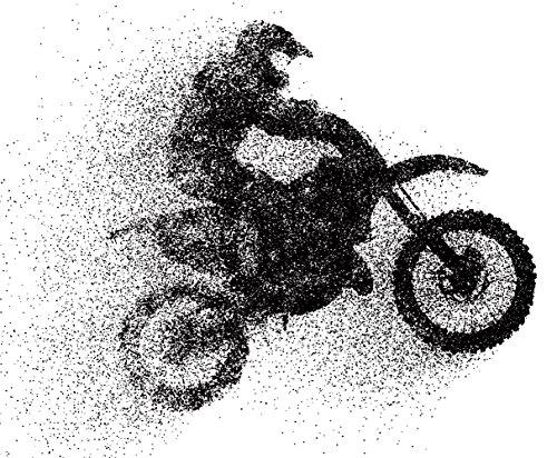 Vinilo Decorativo Pared Motocross | Varias Medidas 137x120cm | Multicolor | Pegatina Adhesiva Decorativa de Diseño Elegante