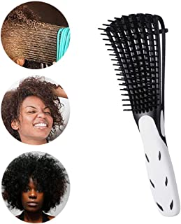 Detangling Brush for Natural Hair-Detangler for Afro Textured 3a to 4c Kinky Wavy, Detangle Easily with Wet,Coily Hair,Dry,Curly,Conditioner, Improve Hair Texture-Easy Clean (Black)