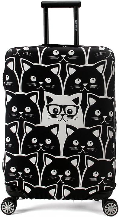 Cover proteggi bagagli luggage cover,pop gatto (l (fit 26