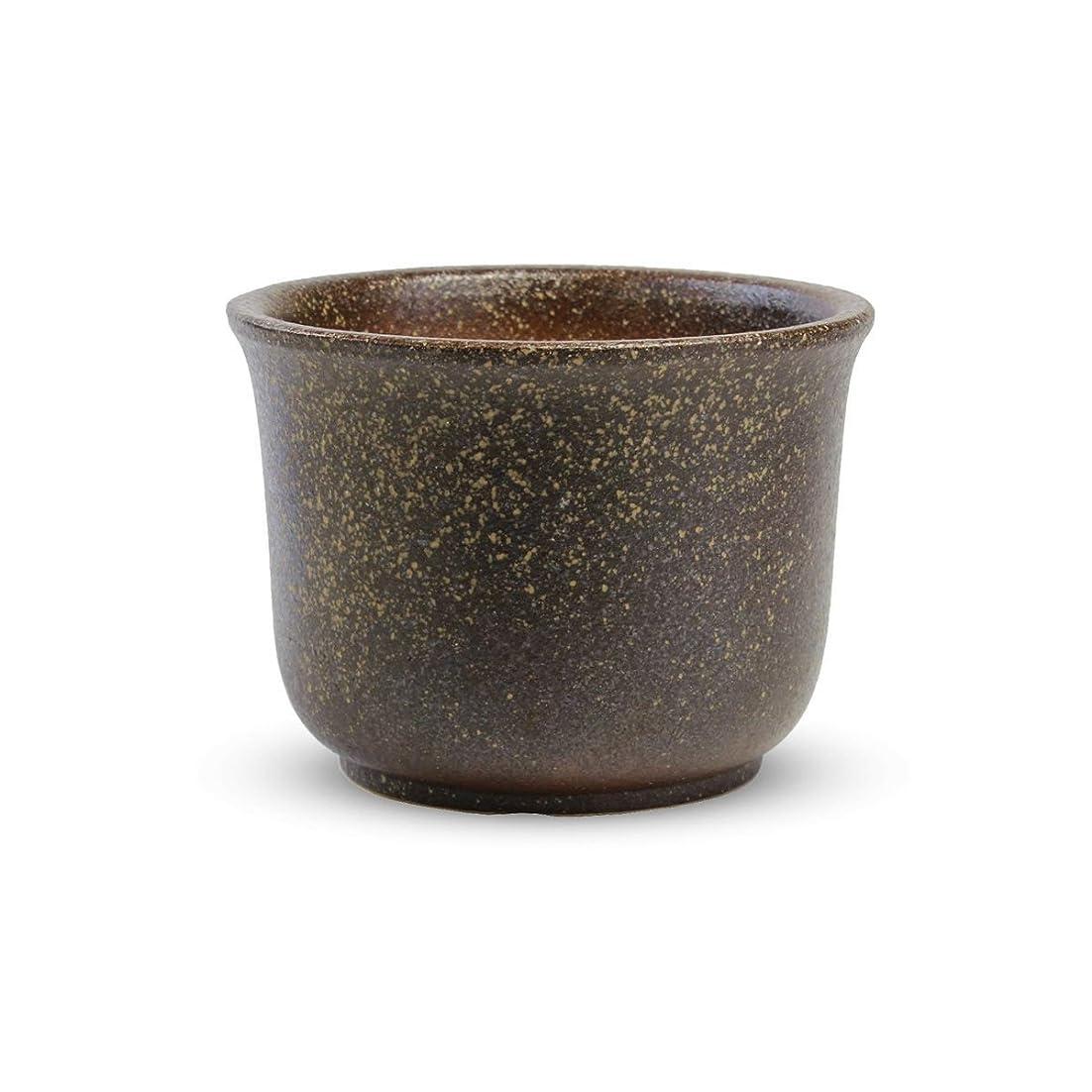 提出するインストール生産性CtoC JAPAN Select 信楽焼 植木鉢 6号 コゲ尻丸 18cm x 18cm x 13.5cm おしゃれ 陶器 P7-9B