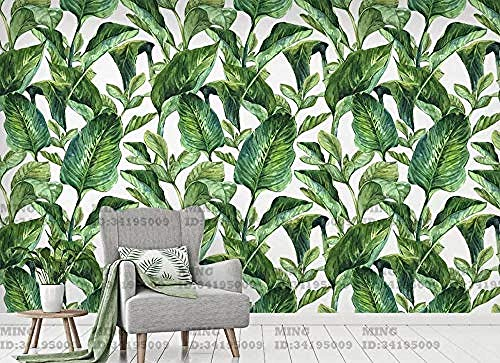 Leaf Green Tropical Plant Modern for Walls Murals Wallpaper Custom 3D Wallpaper Paste Living Room The Wall for Bedroom Mural border-400cm×280cm